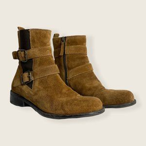 Aldo Suede Ankle Boots Brown